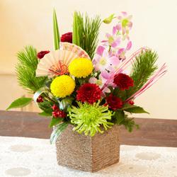 正月のお花 迎春アレンジメント「錦」